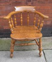 Solid oak captains chair