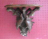 Victorian black forest bracket shelf