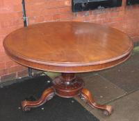 Victorian Dining Table and Four Chairs