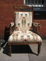 Edwardian Walnut Armchair
