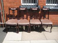 Set of Four Mahogany Edwardian Dining Chairs