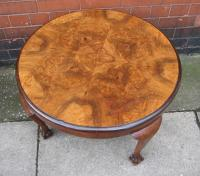Circular Walnut Coffee Table