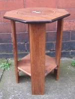 Octagonal Oak Side Table