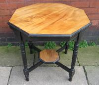 Walnut and Ebony Octagonal Table