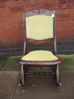 Foldaway Mahogany Rocking Chair