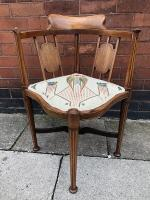 Edwardian Walnut Corner Chair