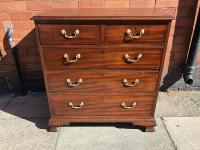 Small Mahogany Georgian Chest of Drawers