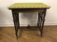 French Gothic Walnut Occasional Table
