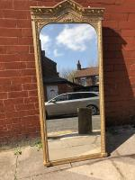 Large Free Standing Gilt Mirror