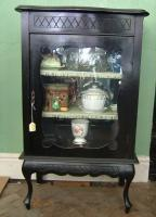 Ebonized display cabinet