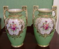 A pair of Noritake vases