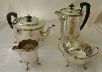 A set of four Sheffield plated tea set