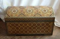 Chinese parquetry travelling chest