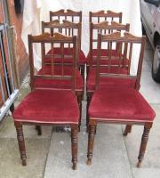 6 Small Edwardian Walnut Drawing Room Chairs