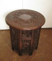 Burmese hardwood occasional table