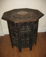 Large Anglo-Indian octatagonal table
