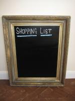 Antique gilt frame blackboard