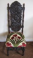 Victorian oak carved hall chair