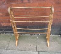 Edwardian pine towel rail C1910